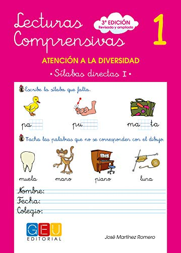 Lecturas comprensivas 1 - Sílabas Directas I por José Martínez Romero
