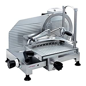 Olimpic Master 300 Electric 220W Stainless steel Aluminium,Silver slicer - Slicers (Stainless steel, Aluminium, Silver, 520 mm, 590 mm, 590 mm, 31.9 kg)