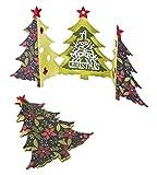 Sizzix 660665 Karte Weihnachtsbaum zum falten von Jen Long Thinlits Stanzen Set, 6 in Packung, Stahl, mehrfarbig, 26.1 x 17 x 0.5 cm