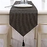 Escritorio moderno minimalista moderno pabellón compartimentos de lujo Color puro tablas Tabla bandera mesa de café, mesa de comedor servilletas de tela ,33*210cm.