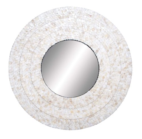 Deco 79 48952 Spiegel mit Holzeinlage, 81 cm -