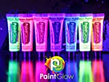 Paint Glow Neon Face & Body Paint (10ml) - Full Set of 7 Colours by paintglow