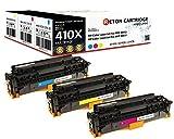Original Reton Toner mit 25% mehr Leistung,kompatibel, 3er Farbset (CF411X, CF412X, CF413X), passend für HP CF411X, CF412X, CF413X / ca. je 5.900 Seiten CYM für HP Color Laserjet Pro MFP M477fdw HP Color LaserJet Pro MFP M477fdn , HP Color LaserJet Pro MFP M477fn , HP Color LaserJet Pro MFP M477fnw , HP Color LaserJet Pro M452dn , HP Color LaserJet Pro M452nw HP Color LaserJet Pro MFP M377dw