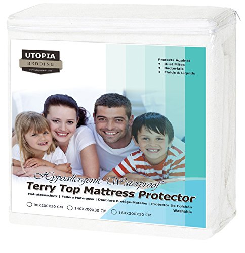 Utopia bedding coprimaterasso impermeabile - ipoallergenico coprimaterasso montato (90 x 200 cm)