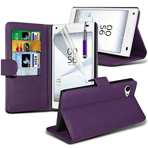 Étui pour Sony Xperia Z5 Premium / Sony Xperia Z5 PREMIUM DUAL Titulaire de téléphone Case voiture universel Mont Cradle Dashboard & pare-brise pour iPhone yi -Tronixs Wallet + Pen( Purple )