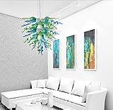 SHIJING Mode Rustikale Pendelleuchten geblasenem Glas LED-Birnen-Leuchter-Beleuchtung Türkis, Grün, Weiß Wohnzimmer Kronleuchter