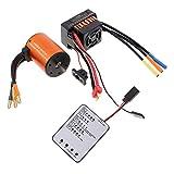 Gazechimp 3650 4300KV Brushless Motor + 60A ESC + LED Programmierkarte Für 1/10 RC Auto