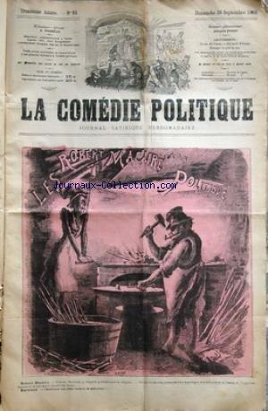 COMEDIE POLITIQUE (LA) [No 93] du 26/09/1880