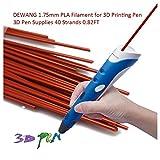 DEWANG 3D-Drucker Filament-40 Str?nge 1.75mm PLA Kunststoff f¨¹r 3D Drucker Zeichnung, Kaffee