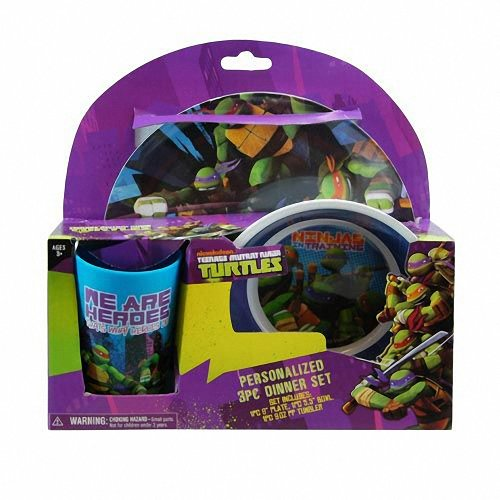 Teenage Mutant Ninja Turtles, 3-teilig, Motiv TMNT-Set Schale, Tasse, Teller