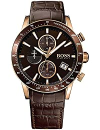 HUGO BOSS Men's Chronograph Quartz Watch with Leather Strap – 1513392