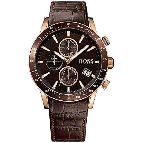 Hugo BOSS Herren-Armbanduhr 1513392 (Hugo Boss Leder Braun)