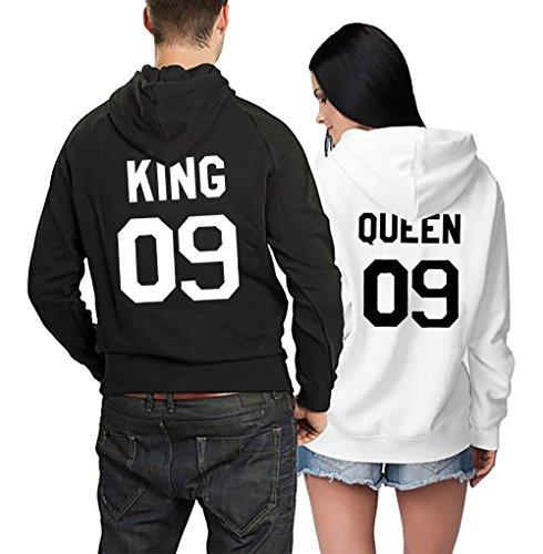 *Pärchen Pullover Pärchen Set Kapuzenpulli Queen King 09 2 Stück*