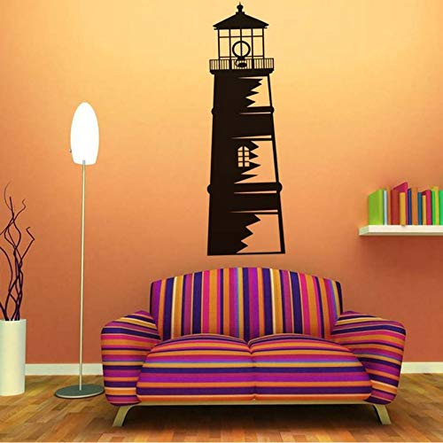 Jixiaosheng Nautical Ocean Lighthouse WandaufkleberHome Decor AbnehmbareVinylkleberFür Wohnzimmer Zubehör Wandbilder Kunst55 * 179 Cm