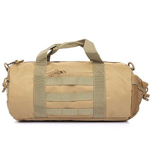 Multifunzionale all' aperto mano borsa a tracolla tattico borsa messenger bag Tote cinturino confezione per campeggio, viaggi, escursioni, Khaki Khaki