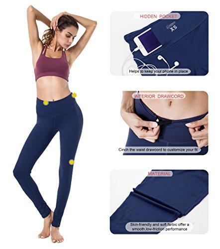 Queenie Ke Donna Allenamento Leggings Opaco Yoga Fitness Palestra Pantaloni Blu marino