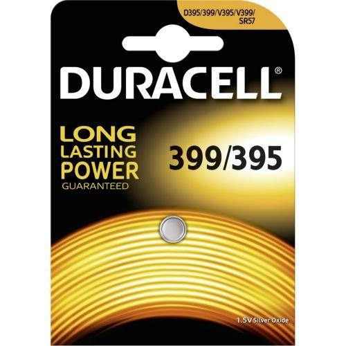 Duracell 399 SR927W-Uhrenbatterie, Silberoxid, 1,55V, in Blisterverpackung.