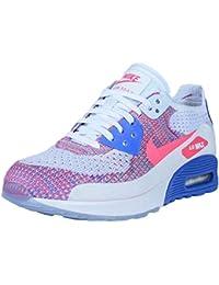 Nike–Zapatillas para mujer Air Max 90Ultra 2.0Flyknit, white/racer pink-medium blue