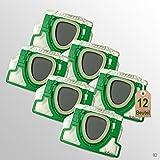 12 Stück Filtertüten Staubsaugerbeutel passend für Vorwerk Kobold VK 200 FP200