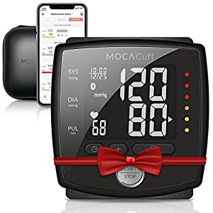 51Wj1wPY5NL. SS300  - MOCACuff Portable Bluetooth Blood Pressure Monitor, Wrist Blood Pressure Monitor Cuff, Phone Connect Fully Automatic…