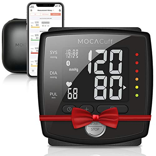MOCACuff Bluetooth Wireless Automatic Blood Pressure Monitor Wrist Cuff w/Bluetooth App for Apple & Android