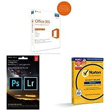 Microsoft Office 365 Home 5PCs/MACs - 1 Jahresabonnement - multilingual (Product Key Card ohne Datenträger) + Adobe Creative Cloud Fotografie (Photoshop CC + Lightroom) - 1 Jahreslizenz (Mac/PC) + SYMANTEC Norton Security Deluxe (5 Geräte - PC, Mac, Smartphone, Tablet)