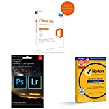 Microsoft Office 365 Home 5PCs/MACs - 1 Jahresabonnement - multilingual (Product Key Card ohne Datenträger) + Adobe Creative Cloud Fotografie (Photoshop CC + Lightroom) - 1 Jahreslizenz (Mac/PC) + SYMANTEC Norton Security Deluxe (5 Geräte - PC, Mac, Smartphone, Tablet)