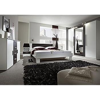 Schlafzimmer komplett 54018 4-teilig weiß / lila: Amazon.de: Küche ...