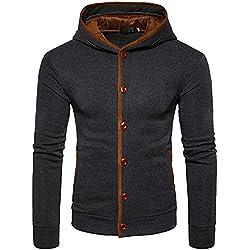 DEELIN Nouveau Mode Hommes Garder Au Chaud Épais Hiver Hoodies Sweat-Shirt À Capuche en Tricot Cardigan Manteau Veste Tops Survêtement