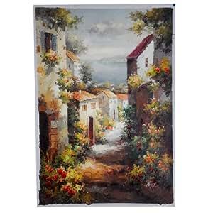 Ca 70 x 100 cm hochformat original lgem lde gem lde lbild wandbild auf leinwand - Wandbild hochformat ...