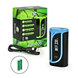 SC / Eleaf iKonn 220 Akkuträger 220 Watt + 2 x 2500 mAh Akku in 6 Farben Box-Mod-Set (schwarz - blau)