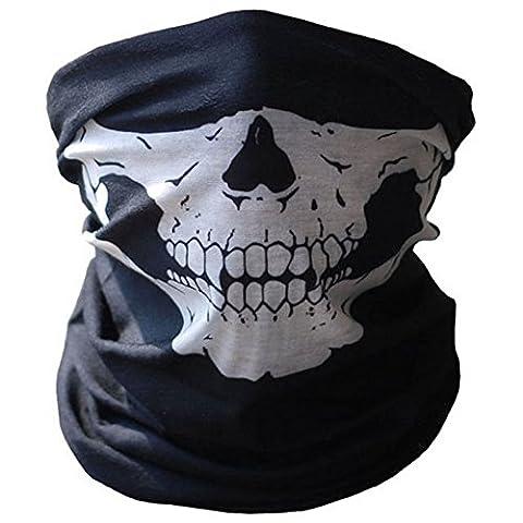 SOFIT SF-01 Nahtlos Schädel Skull Gesichtsmaske, Motorrad Biker Snowboards Halb Gesichtsmaske, Staubschutz für (Beanie Halb Helm)
