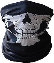 SOFIT Skull Mask Maschera Tubolare Cranica, Mezzo Cranio Maschera, Bandana Maschera per Bici Motocicletta (1 P