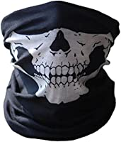 SOFIT Skull Mask Maschera Tubolare Cranica, Mezzo Cranio Maschera, Bandana Maschera Per Bici Motocicletta