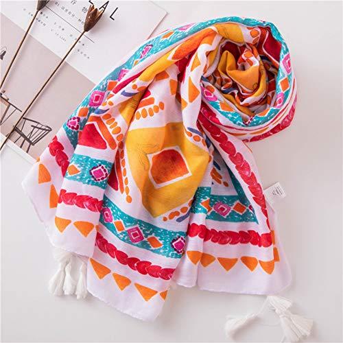 l Sommer Frauen Schal Mode Frau Hijab Geometrisches Muster Strand Vertuschungen Wraps Bandana Drucken Schals Großhandel ()