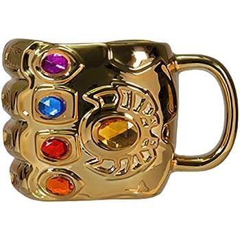 Endgame Thanos Infinity Gauntlet Mug Milk Coffee High Temp Glass Cup Double Wall