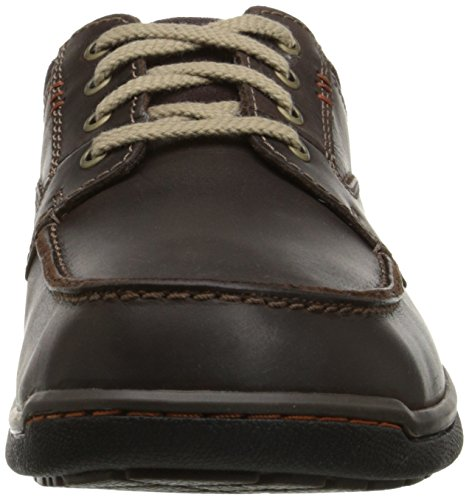 Clarks Randle Weg Oxford Dark Brown Leather 5TWzUS