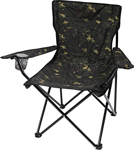 Robuster Camping Outdoor Angler Klappstuhl Outdoor Farbe Flecktarn mit Armlehne
