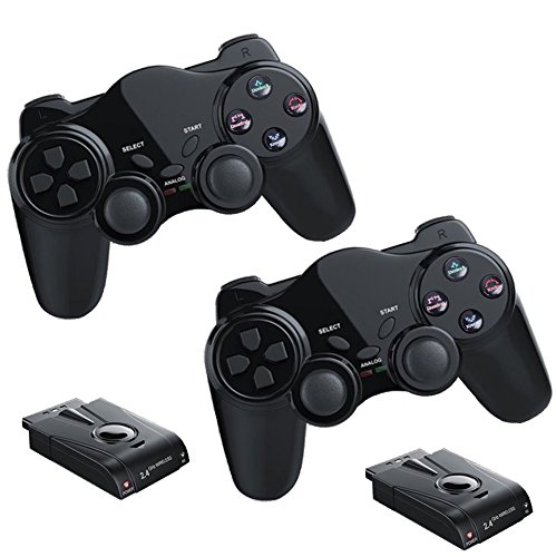 2x Funk Controller für PS2 Playstation 2 Dual Vibration, wireless Gamepad PS 2 kabellos (Ps2 Konsole Original)