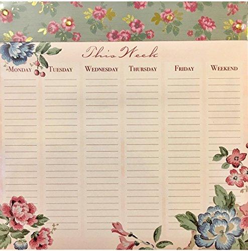 Punch Studio 80Seite verziert Liste/Maus Pad Planer ~ Floral Woche 63335 -