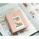 64 Pockets Mini Album Case Storage For Polaroid Photo FujiFilm Instax Film Size (pink)