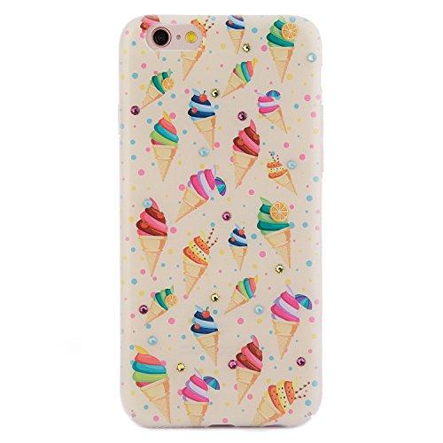 iPhone 8 / 7 Case, Arktis Luxus Hardcase mit Swarowski Steinen Ice cream