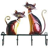 TOOARTS Perchero de pared Metal de Gato para Colgar llaves Sombreros para Decorar su Hogar Estilo