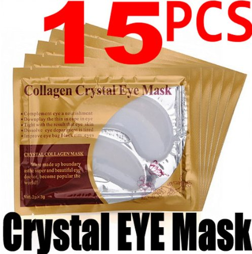 15 paires de collagène de Crystal Eye Mask paupières sacs Patch Anti rides profondes humidité