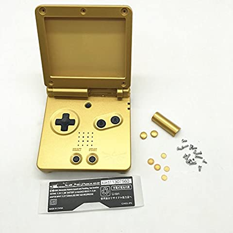 Haodasi Replacement Limited Gold Housing Shell Case Faceplate Cover Caja Cubierta Carcasa for Nintendo Gameboy Advance SP GBA SP