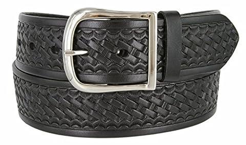 Belts.com Women's Basketweave Work Uniform Genuine Leather Belt 40 Black
