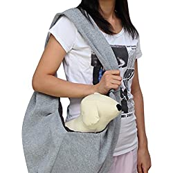 YOUJIA Portador Transportin Bolsas Mensajero Bolso de hombro / Bandolera para Mascota Perro Gato Viaje Gris, Tamaño (47*23*20cm)