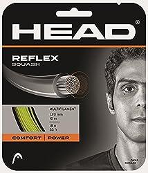 Cabeza Reflex cordaje para raqueta de squash. Cuerdas de squash de. Este multifilamento de squash cadena ofrece una gran potencia gracias a su completo Premium construcción. La resina sintética que se utiliza para unir los filamentos que proporcionan...