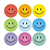 Smiley Faces Mix-Coloured Stickers