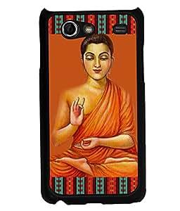 PRINTVISA Premium Metallic Insert Back Case Cover for Samsung Galaxy S Advance - I9070 - D5895